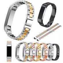 Alta Calidad Pulsera de Acero Inoxidable correa de reloj de Correa De Reemplazo Fitbit Alta Venda de Reloj de Pulsera Correa de La Banda