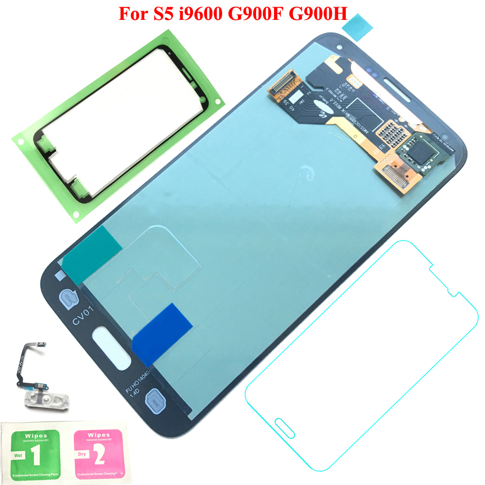FIX2SAILING 100% Tested Working Super HD AMOLED LCD Display Touch Screen Assembly For Samsung Galaxy S5 i9600 G900F Black/White