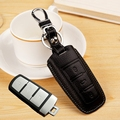 fob leather car key wallets shell case For Volkswagen VW Magotan Passat B6 B7 CC car Key cover Holder bag keychain accessories