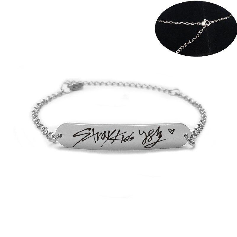 Мужской/женский браслет из нержавеющей стали, Серебристый браслет с надписью