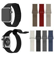 100% lazo de cuero genuino para apple watch cuero acolchado con cierre magnético ajustable lazo para apple watch band 38mm 42mm