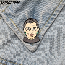 DMLSKY Ruth Bader Ginsburg Enamel Pin and Brooch for Clothing bags backpack badges Women Men shirt collar pins M2492