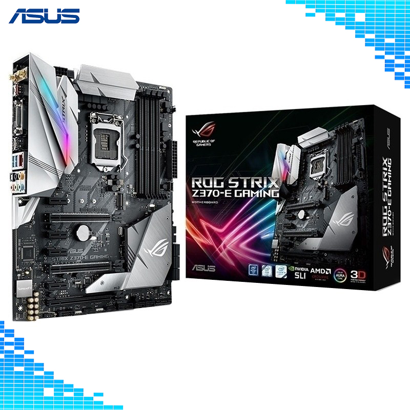 все цены на Asus ROG STRIX Z370-E GAMING Desktop Motherboard Intel Z370 Socket LGA 1151 ATX 4XDDR4 64G game Motherboard