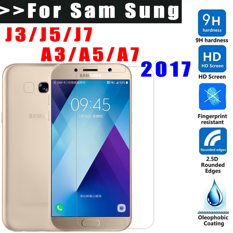 9H Ttempered glass For Samsung Galaxy J3 J5 J7 A3 A5 A7 2017 A320 A520 A720 screen protector for a5 Toughened Protective Film