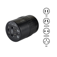 Yulass Travel Adapter World Wide Universal All In One Wall Charger Power Adapter Plug US UK