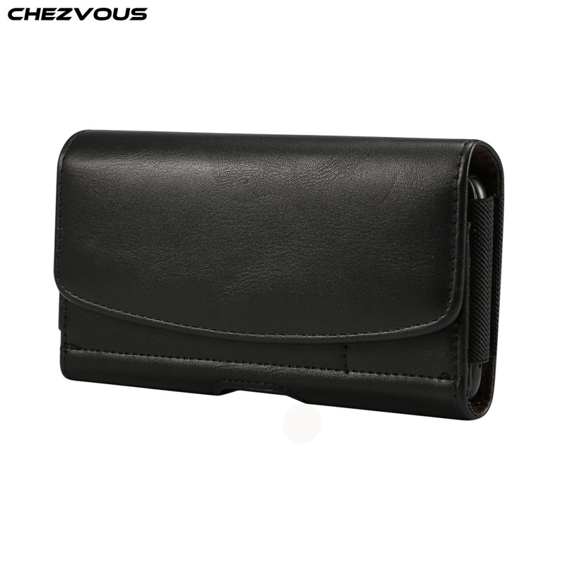 CHEZVOUS Universal Pouch Leather Case 4.8/5.2/5.5/6.5 inch for iPhone Samsung Huawei Xiaomi with Card Holder Belt Clip HolsterCHEZVOUS Universal Pouch Leather Case 4.8/5.2/5.5/6.5 inch for iPhone Samsung Huawei Xiaomi with Card Holder Belt Clip Holster