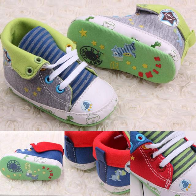 Cute Cartoon Printed Baby Kids High Shoes Casual Anti-Slip Toddler Walk Sneaker 5