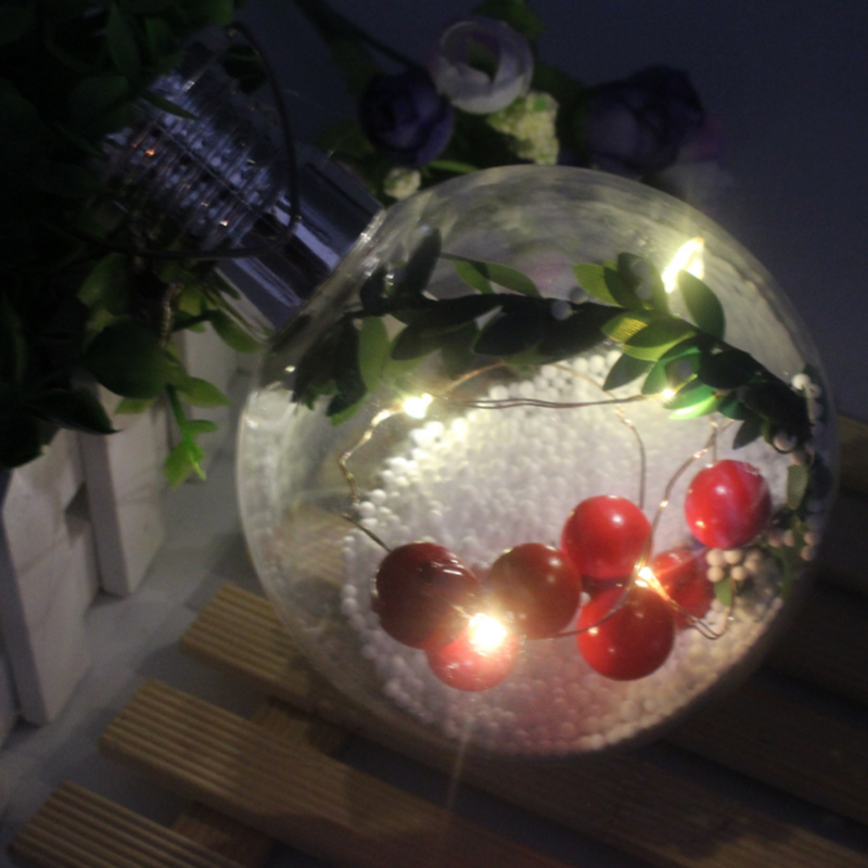 Solar Christmas Decorations.Us 3 28 25 Off 10cm Transparent Christmas Ball Ornament Plastic Bauble Led Solar Light Xmas Gifts Christmas Decorations For Tree Party Supplies In
