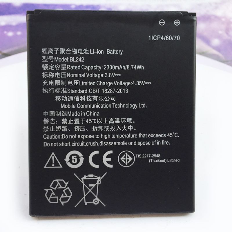 Mobile-Phone-Battery VIBE BL242 2300mah LENOVO for High-Quality C 100%New