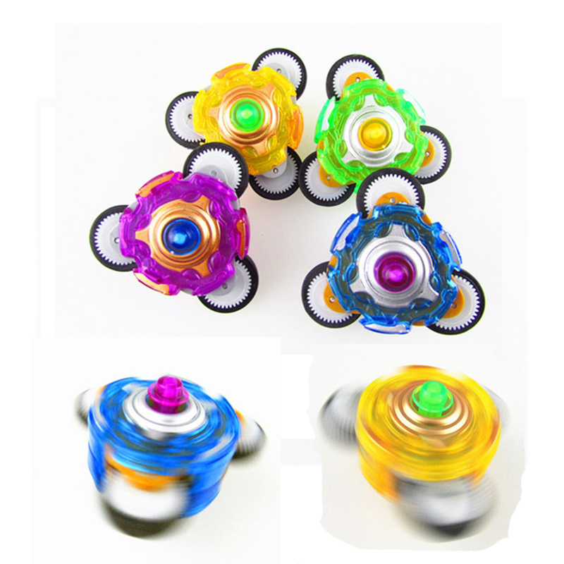 Free Shipping Mini Plastic Toy Beyblade with Gear Can Nudge Forward gyroscope Beyblade Metal Fusion Christmas