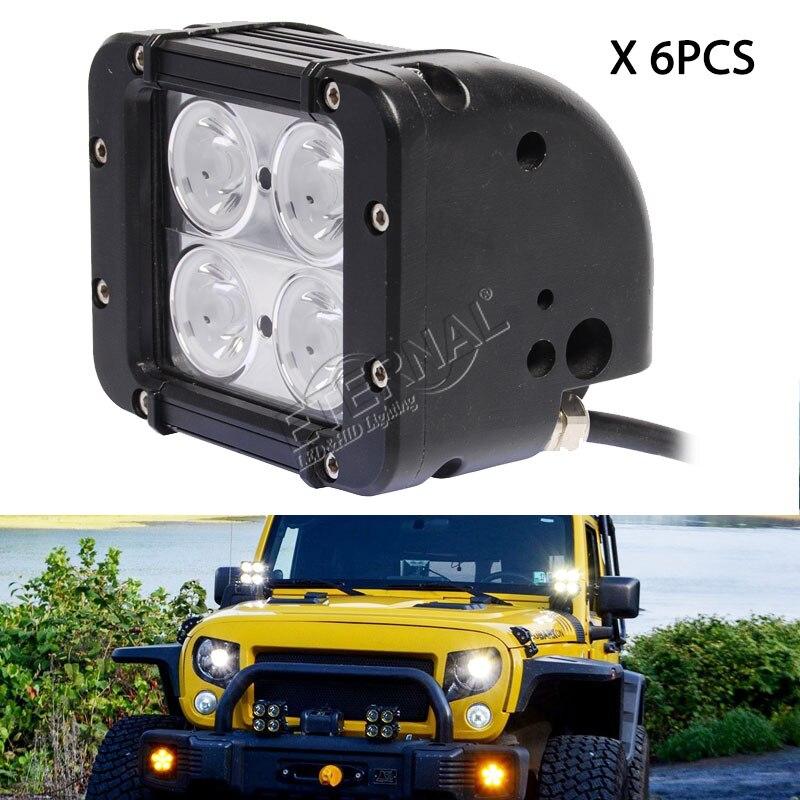6 pièces 40 W lampe LED tout-terrain bar camion remorque tracteur lourd camion minier pelle inondation travail barre lumineuse haute puissance brouillard lampe.