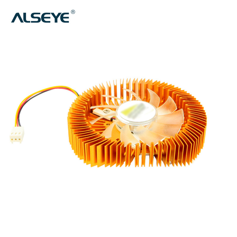 ALSEYE VGA Cooler Clearance Aluminum Heatsink Graphics Card Cooling Fan DC 12V 3pin 4000RPM VGA Fan for Radeon X2600/X1600/X1650 computer cooler radiator with heatsink heatpipe cooling fan for asus gtx460 550ti 560 hd6790 grahics card vga replacement