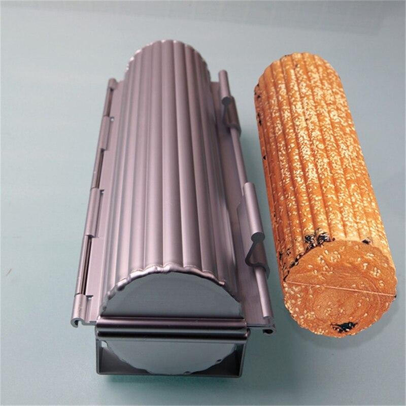1 pc en aluminium moule à pain moule à pain moule à pain en forme de cylindre boîte à pain