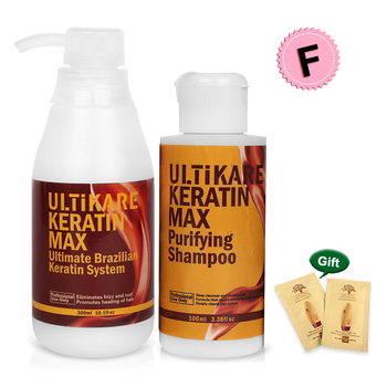 Brazilian 300ml Free Formalin Keratin Treatment+100ml Purifying Shampoo Straightening and Repair Cruly Hair Set+Free Gifts without formalin 1000ml keratin hair repair treatment hair care 300ml purifying shampoo get free gifts