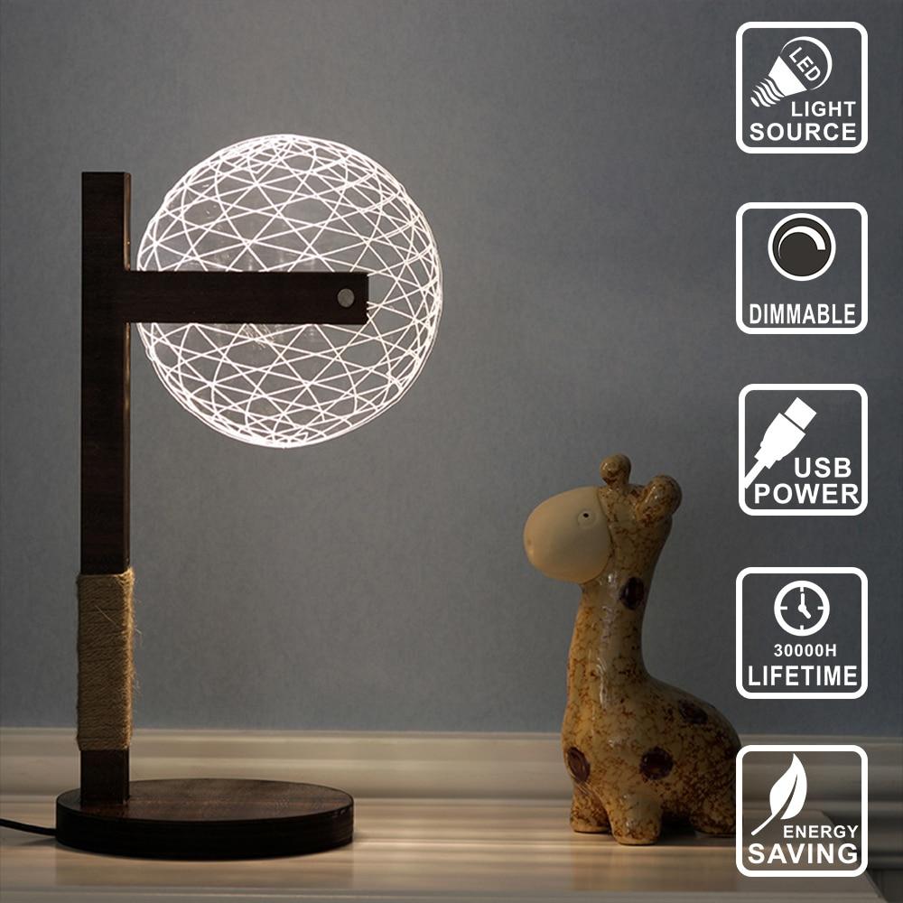 Moderne Wohnzimmer Tischlampe Decor Lampe Holz Led Lampe Hund Licht Acryl  3D Lampe Illusion Licht Led Micro USB Nachtlicht IY804005 In Moderne  Wohnzimmer ...