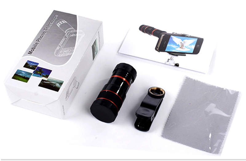 High-Definition Universal 8x telephoto telescopic camera lens For iPhone 6 6s Plus 5S SE 7 7Plus/Samsung Galaxy S6 S7 Edge Plus 9