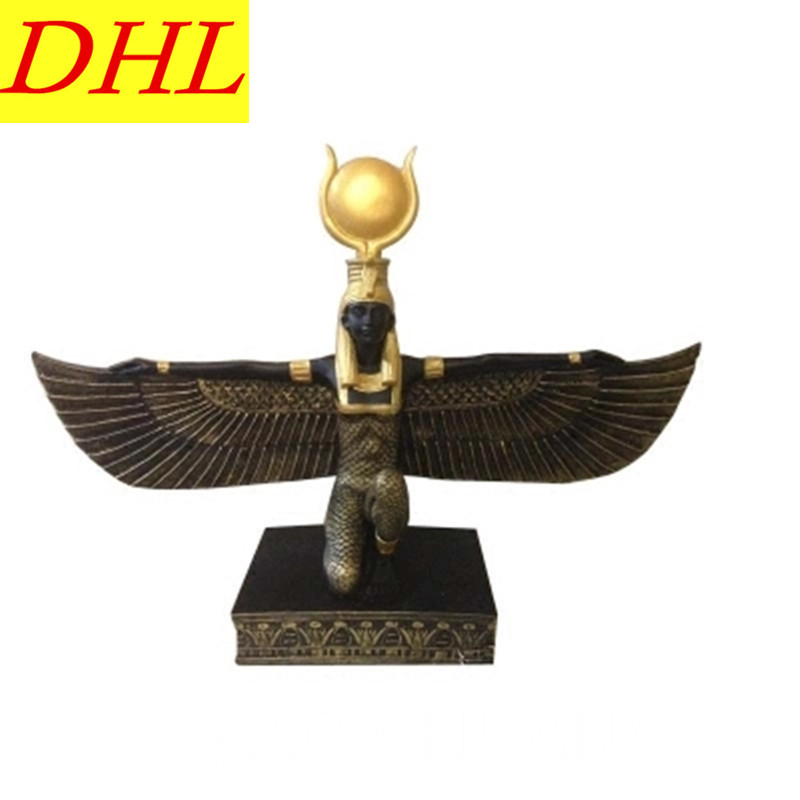 Creative Ancient Egypt Wing Sun Goddess Egypt Goddess Resin Craftwork Bedroom Furnishing ...