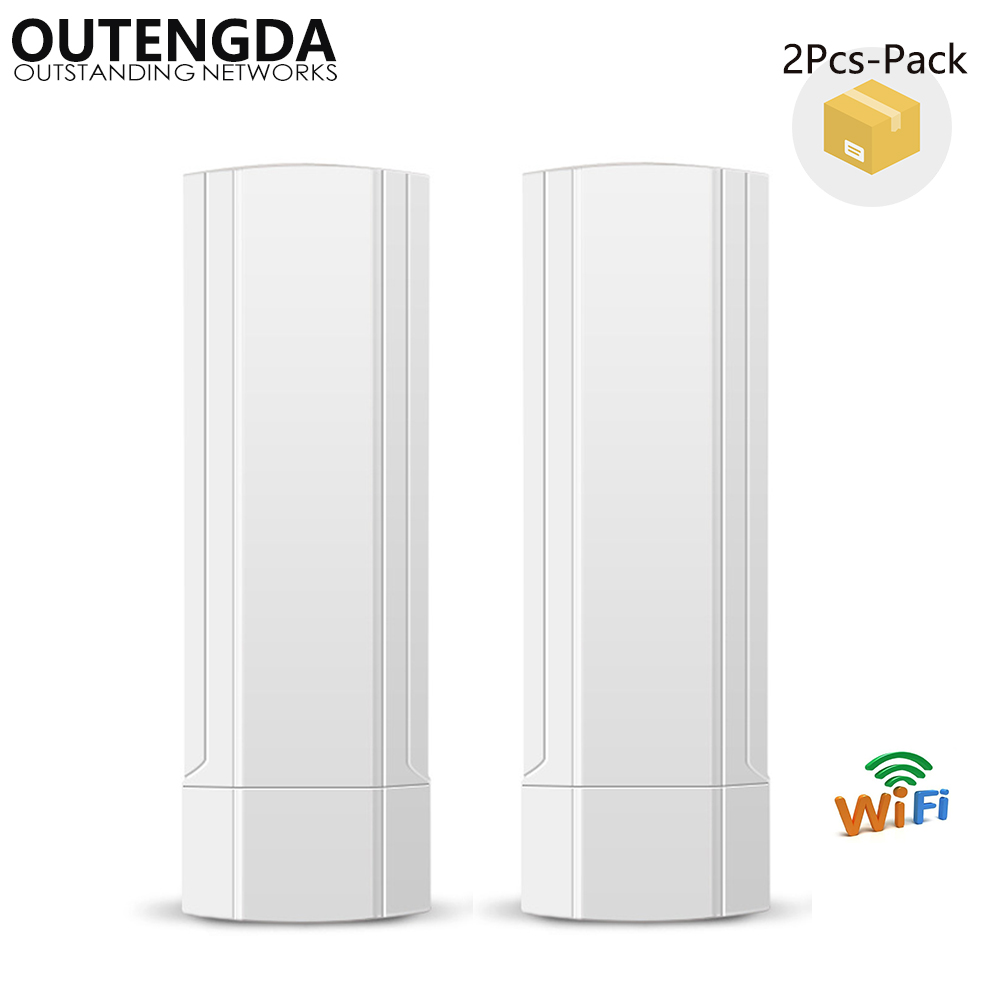 (2Pcs One Pack) Outdoor CPE AP 2.4GHz 150Mbps 1000mW Super-WDS 3KM Wireless Access Point WiFi Bridge Repeater Router with PoE uk stock wireless outdoor cpe 1000mw outdoor 2k distance 150mbps wireless access point cpe router with poe adapter wifi bridge