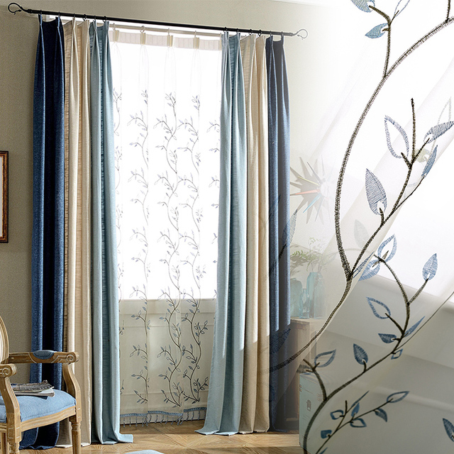 Hot Sale Cotton LinenTexture Decorative Joining Cloth Curtain ...