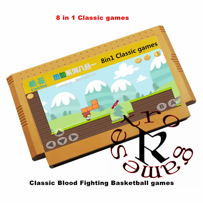 10pcs/lot coolbaby Classic games 7/<font><b>150</b></font>/180/380/400/500 <font><b>in</b></font> <font><b>1</b></font> Best Child Gift 8 bit Game Card for Video Game Console Memory Card image