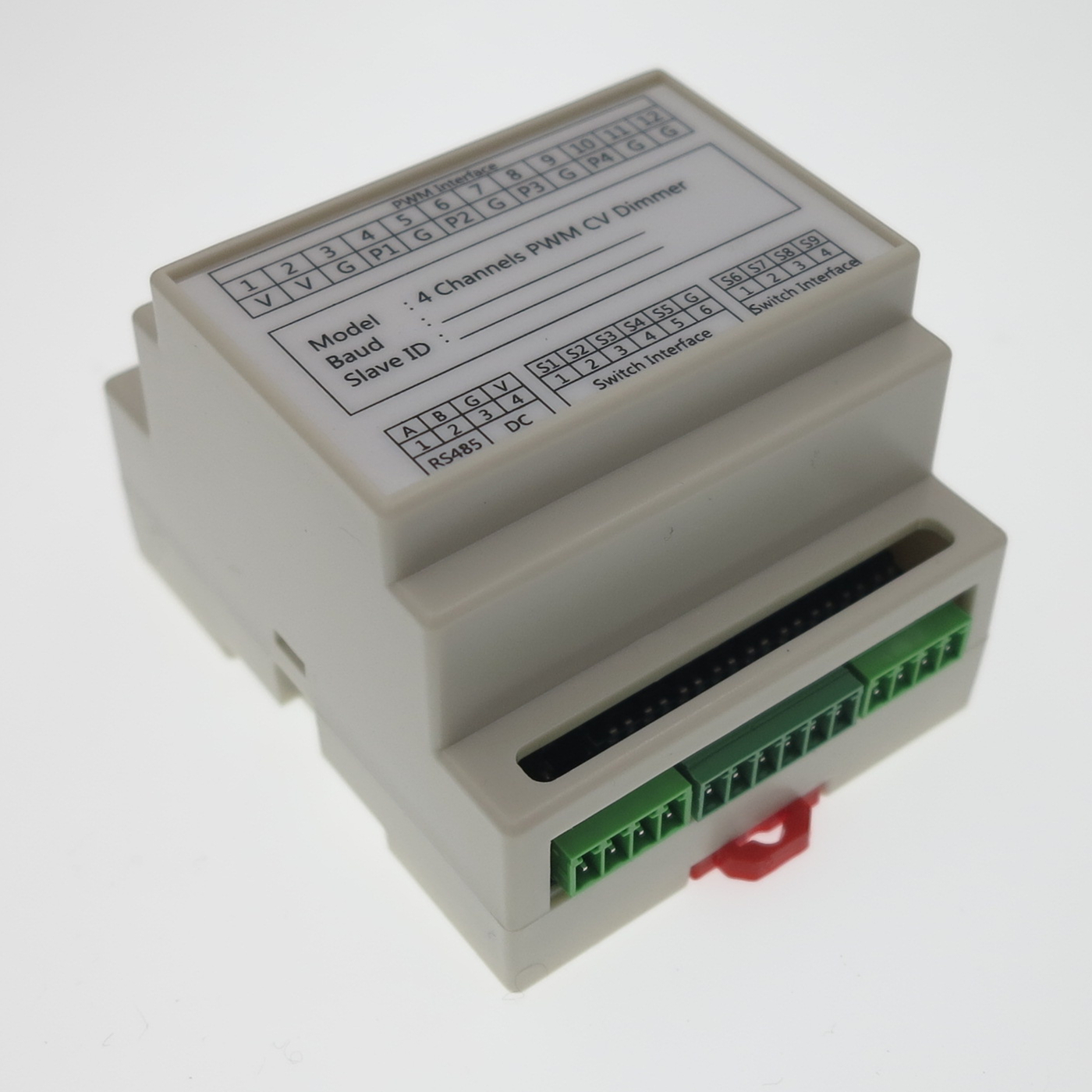 3 4 channels PWM CV Dimmer constant voltage high power LED dimming module with DI RS485