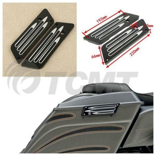 Housse de sacoche de moto gauche droite contraste pour accessoires de motocross Harley Touring 93-13