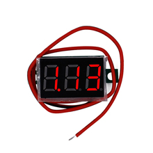 Mini Digital 4.5v-30v Red LED display For Electromobile Motorcycle car Voltmeter tester Voltage Panel Meter(China)