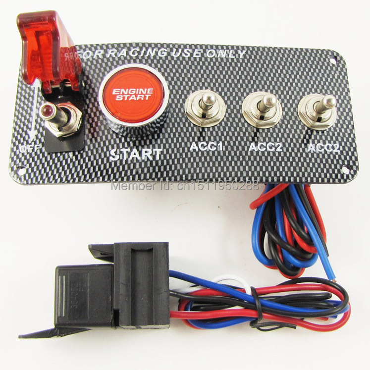 Universal Racing Race Car Ignition Switch Panel Engine Start Button Red Led Toggle V88 Dc12v: Race Car Switch Panel Wiring At Shintaries.co