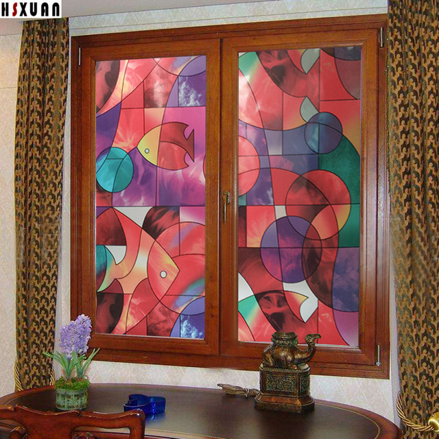 Pvc decorative window filmdarkroom privacy removable tint self adhesive glue glass window stickers