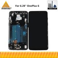 Оригинальный Axisinternational для 6,28 OnePlus 6 Oneplus 6 ЖК дисплей с рамкой + сенсорная панель дигитайзер для One Plus 6
