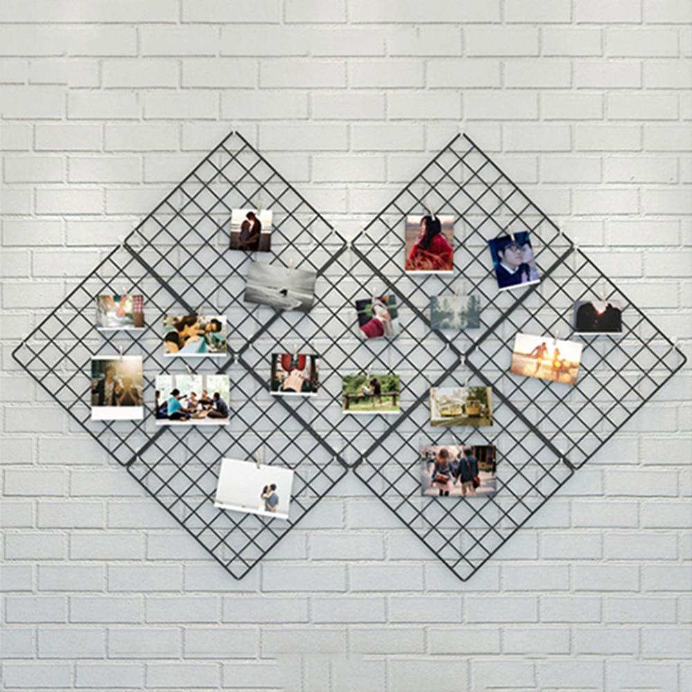 Storage-Rack Photo-Frame Hanging Event-Decor Diy-Decoration Multi-Frame-Pictures Iron