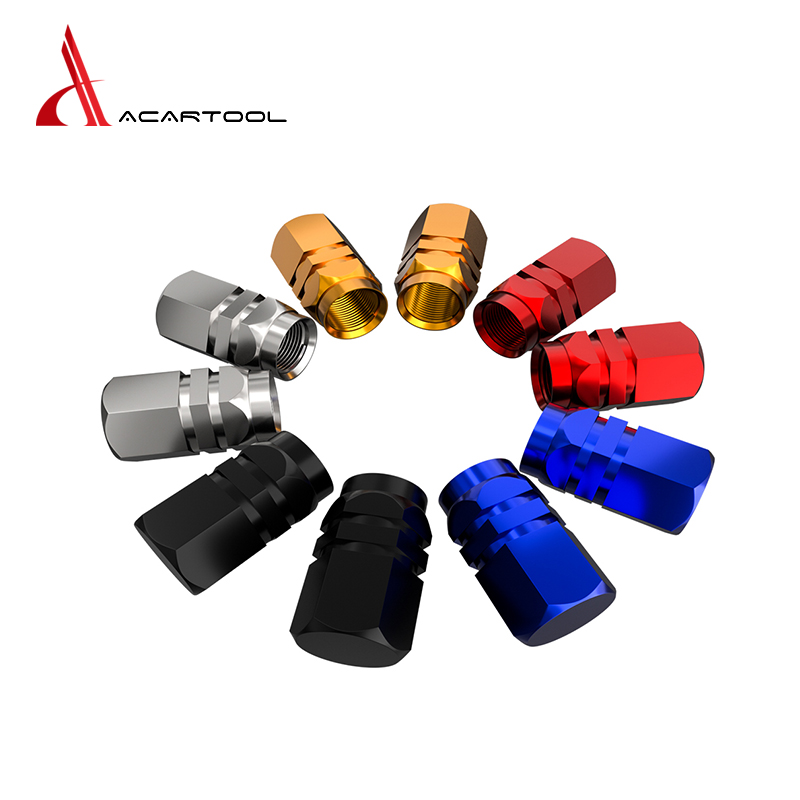 New 4PCS Caps for Wheel Car Wheel Tires Valves Aluminum Theftproof Tyre Stem Air Caps Airtight Cover Car Auto Car Accessories