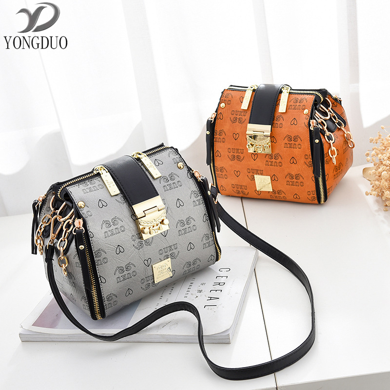YONGDUO Womens Shoulder Bag Vintage Tote Bag Small Messenger Bags Women Luxury Handbags Women Bags Designer Pu Leather Handbags vintage punk tassel shoulder bags pu leather handbags women messenger bag casual tote bag small crossbody bags