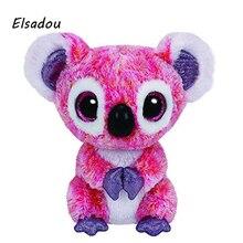 Elsadou Ty Beanie Boos Stuffed Plush Animals Pink Koala font b Toy b font Doll