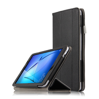 High Quality Genuine Real Leather Stand Shell Cover Manget Case For Huawei MediaPad T3 8 0