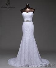 משלוח חינם יפה קריסטל חגורת תחבושת סקסית בת ים 2020vestidos דה noiva robe de mariage כלה שמלת G530