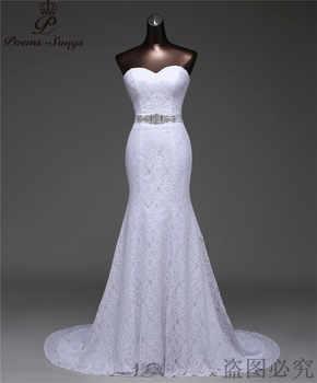Free shipping beautiful Crystal belt bandage Sexy mermaid Wedding Dresses vestidos de noiva robe de mariage Bridal gown G530 - Category 🛒 Weddings & Events