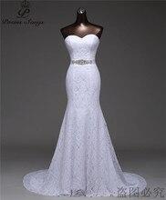 Vestido de noiva estilo sereia, frete grátis, bonito, com cinto de cristal, vestido de noiva, g530, 2020