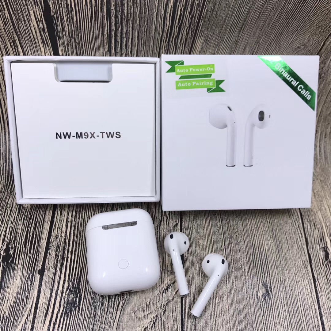 NW M9X TWS Bluetooth Headphones Double Ear Wireless Stereo Earphone Touch Control Auto Pairing Earbuds with Charging Box Pk I10NW M9X TWS Bluetooth Headphones Double Ear Wireless Stereo Earphone Touch Control Auto Pairing Earbuds with Charging Box Pk I10