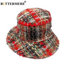 BUTTERMERE las mujeres sombreros de cubo de pesca rojo gorra plegable  colorido sombrero de ala ancha d5a642a8312