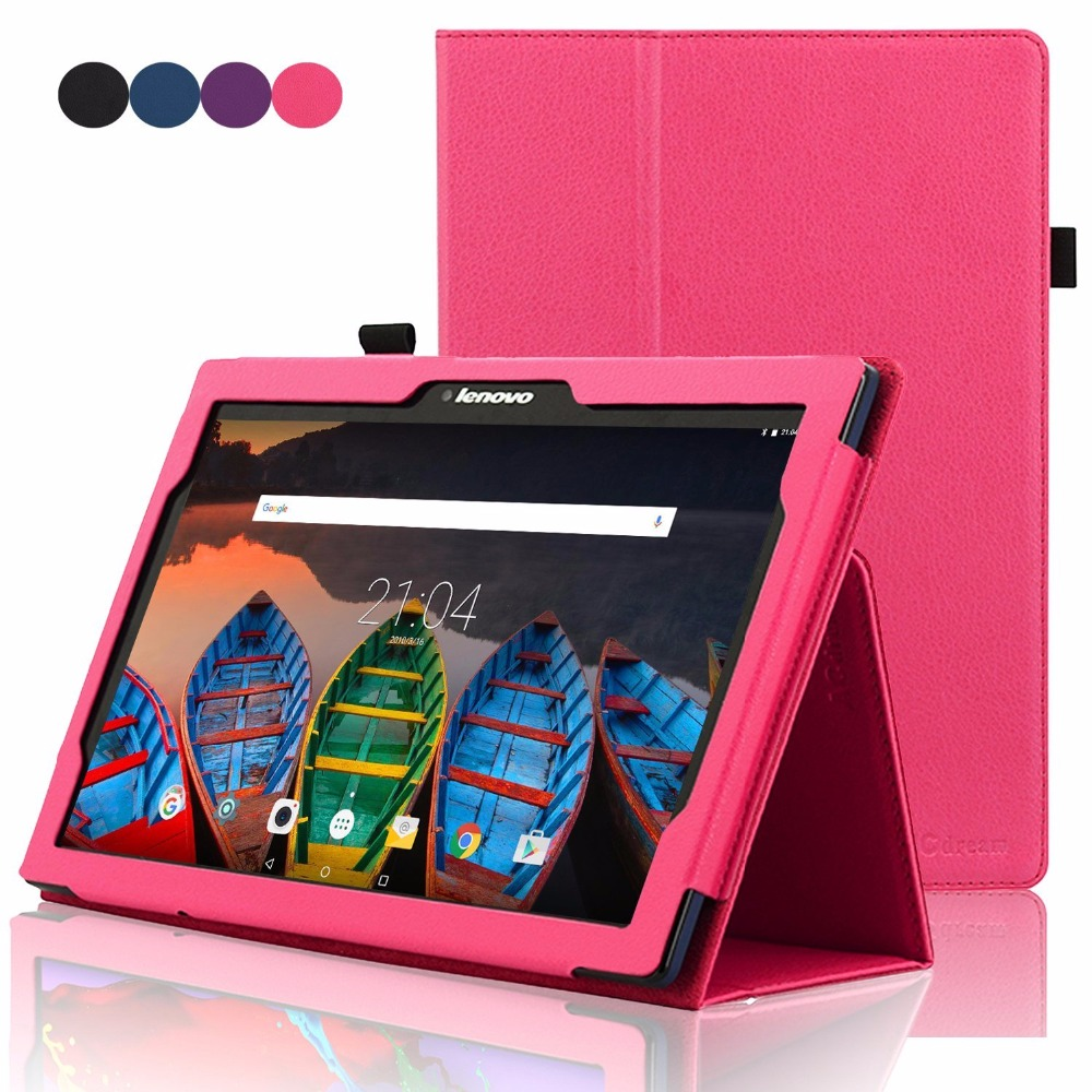 Flip Stand Cover Tablet Case For Lenovo Tab 2 10.1 A10-30 A10-70 X30F X70F PU Leather Case for Lenovo Tab 3 10 plus TAB-X103F