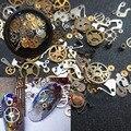 1 Caja ultrafinas 3D Decoración de Uñas Rueda Tiempo Estilo Punky del Vapor del Metal Decoración de Uñas #35079