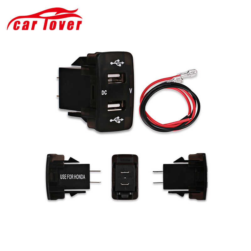 Car Motorcycle 12v Dual USB Socket Voltage Meter Car Charger Cigarette Lighter Interface Power Adapter For Toyota USB Socket