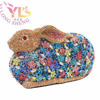 Wholesale Luxury Rabbit Evening Party Clutch Diamonds Decorated Clutch Evening Bags Hand Purse Bag Rabbit Design YLS-A22M