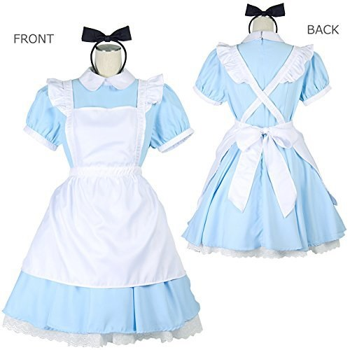 9e8fa2d37 2018 Halloween Women Adult Anime Alice In Wonderland Blue Party Dress Alice  Dream Women Sissy Maid