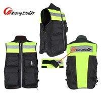 Summer Riding Tribe motorcycle biker reflective safety vest jacket ,moto motorbike motocross black work high visiblity vest