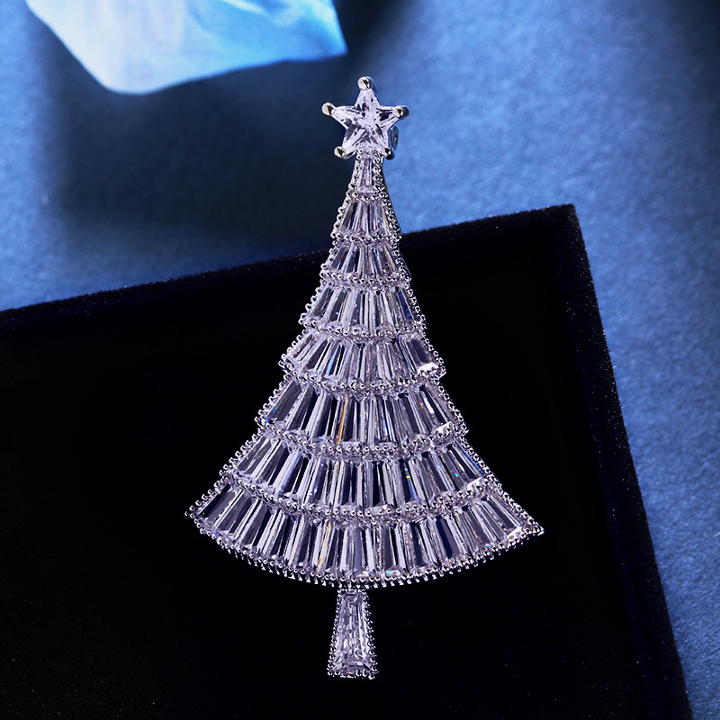 luxury Bridal CZ Cubic Zircon Christmas Tree Brooch Pins Wedding Christmas Gift wx0024 smartch 2018 i6 smart watch android 5 1os mtk6580 quad core 1 3ghz 2gb 16gb smartwatch support google play store map 3g gps wifi