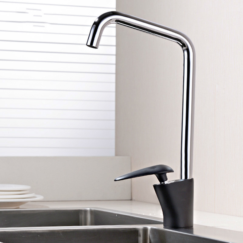 All copper hot and cold single handle kitchen faucet wash basin sink faucet drawing and rotating Lu5112All copper hot and cold single handle kitchen faucet wash basin sink faucet drawing and rotating Lu5112
