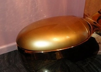 Резервирование за 40 дней заранее золотой цвет унитаз Крышка Ванная комната Вымойте тип Туалет wc крышка высококлассные санитарные