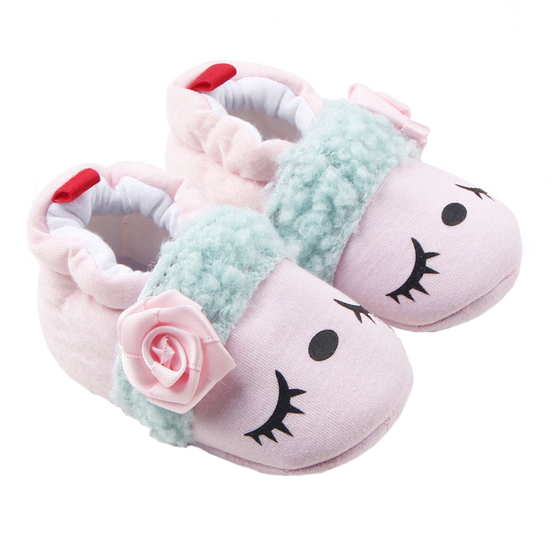 Baby Boys Girls Shoes Newborn First Walkers Bebe Floral Soft Soled Non-slip Footwear Crib Shoes Cartoon Infants Sneakers